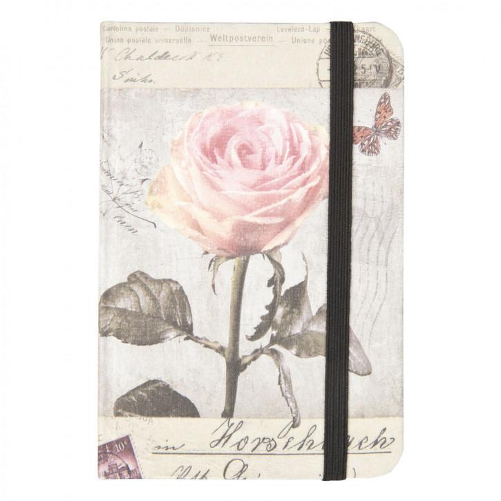 Notizbuch Rose ca. 9 x 12 cm (100 Seiten)