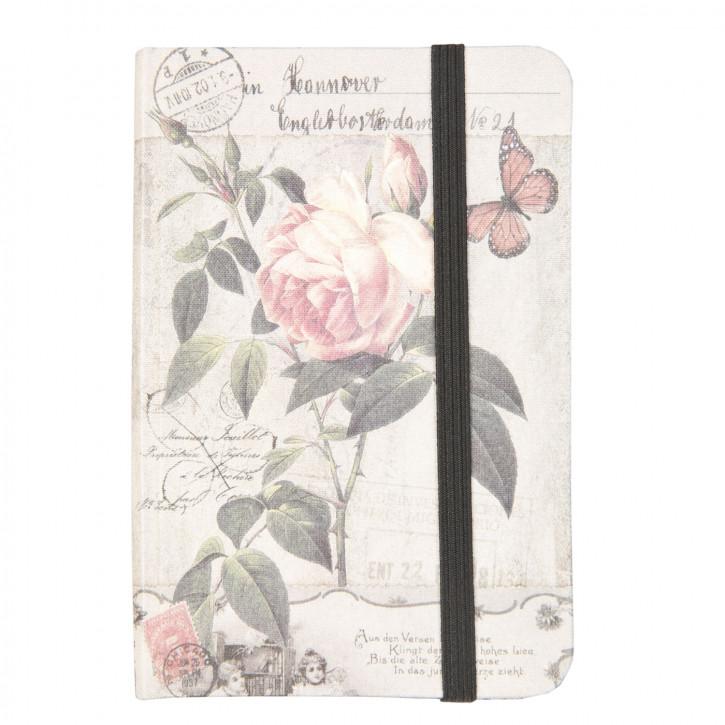 Notizbuch Blumen Schmetterling ca. 9 x 12 cm (100 Seiten)