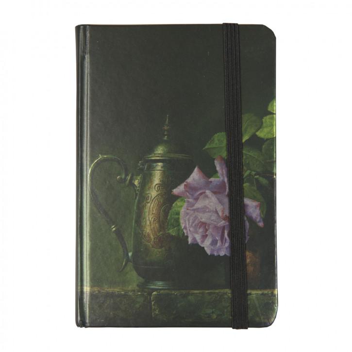 Notizbuch Kanne Blume ca. 9 x 12 cm (100 Seiten)