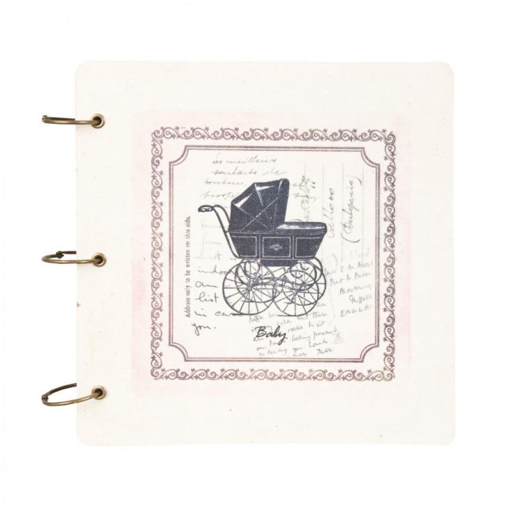 Notizbuch Erinnerungsbuch Kinderwagen Baby Erinnerung Geburt Taufe ca. 27 x 27 cm (24 Seiten)