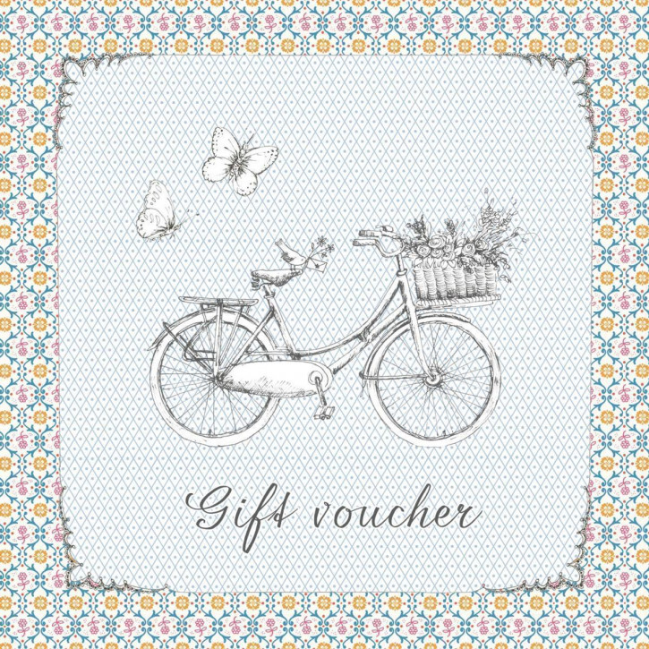 Gift voucher with envelope 14x14 cm
