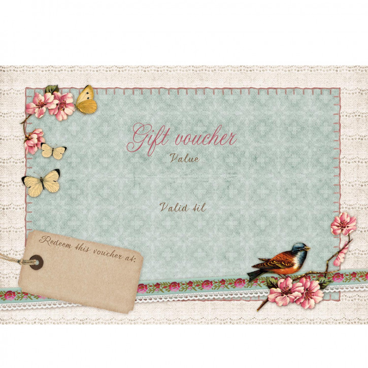 Gift voucher with envelope 15x10 cm
