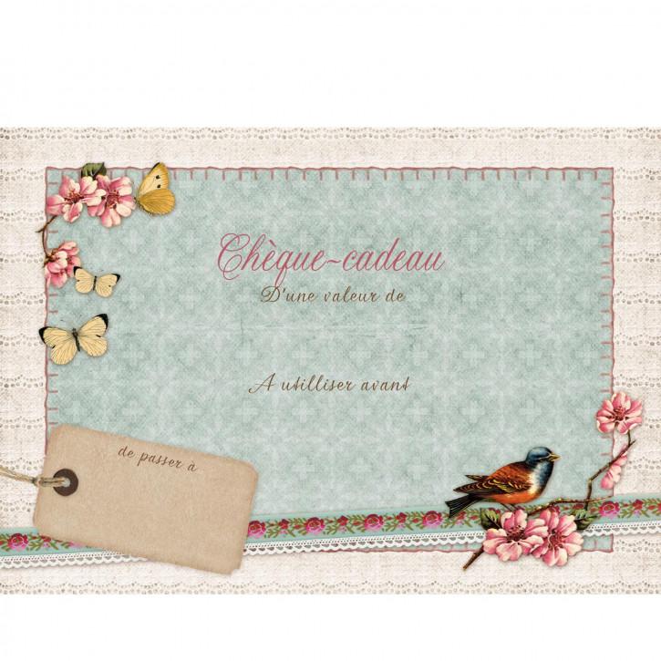 Cheque-cadeau avec enveloppe 15x10 cm