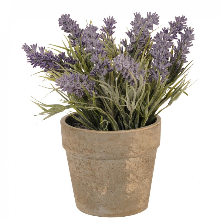 Deko Lavendel im Blumentopf 12*26cm