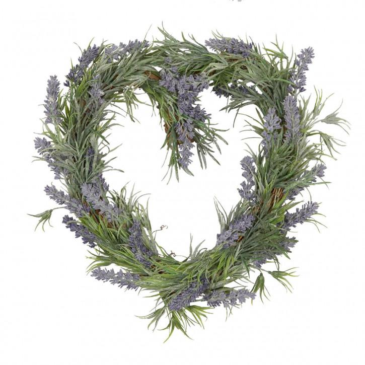 Deko Kranz Herz mit Lavendel 25cm