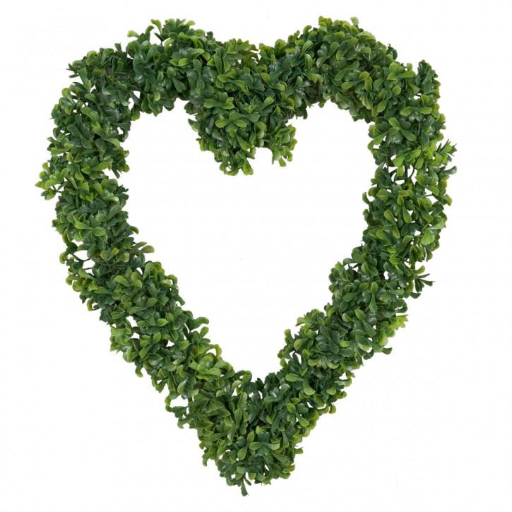 Grünes Blätter Herz 37*42cm