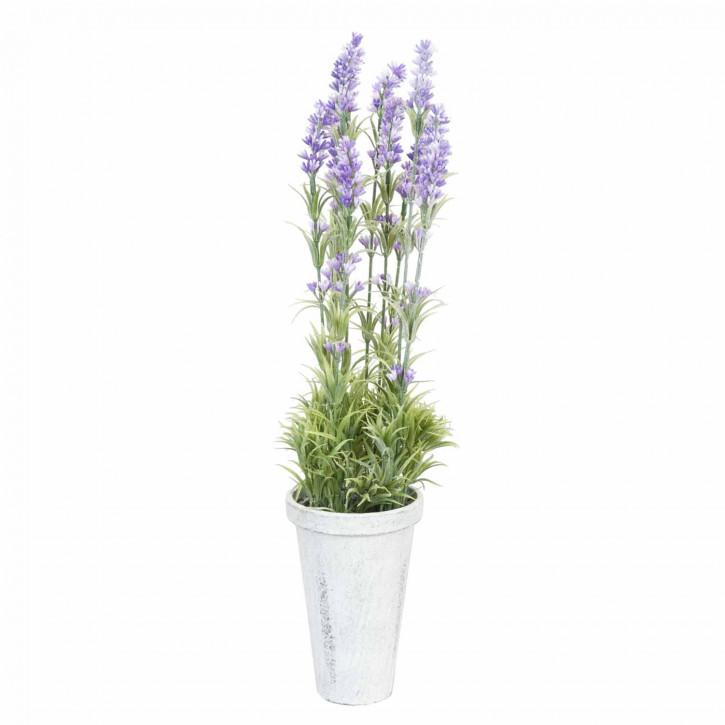 Deko Lavendel im Blumentopf 50cm