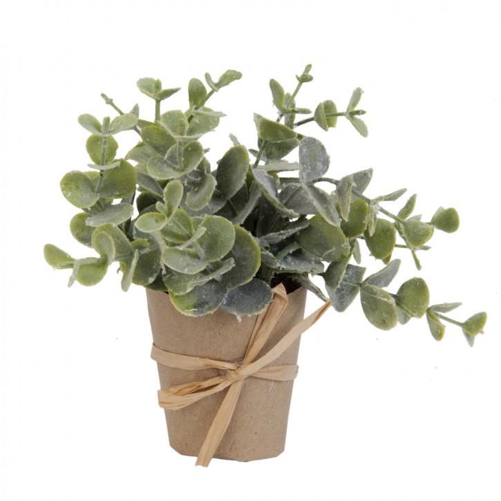 Pflanze im Topf Blume Kunstblume Blumendekoration grün ca. 15 cm