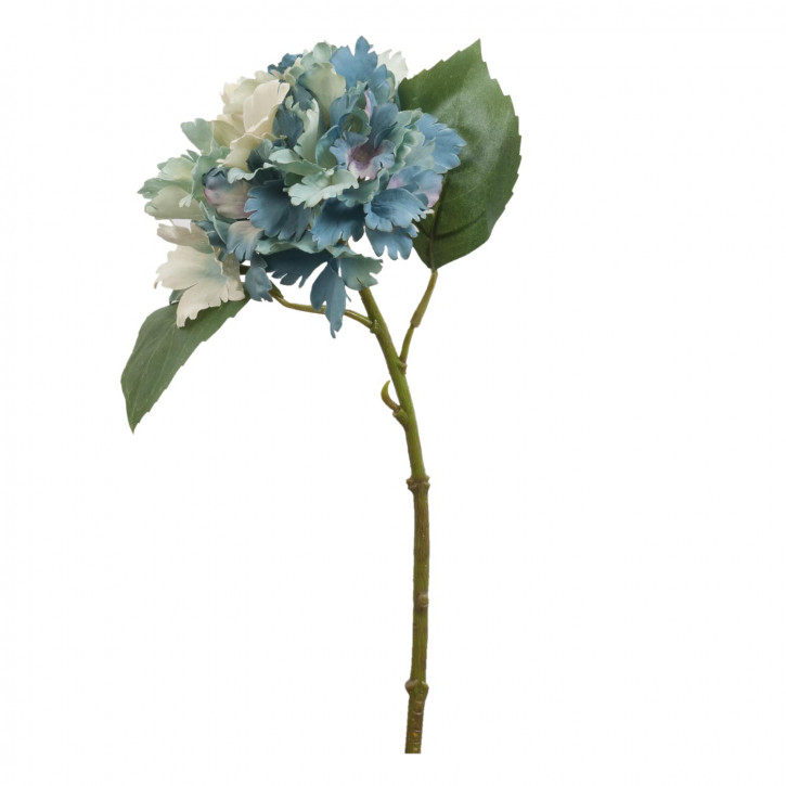 Hortensie Kunstblume Blumendekoration Blume blau ca. 34 cm