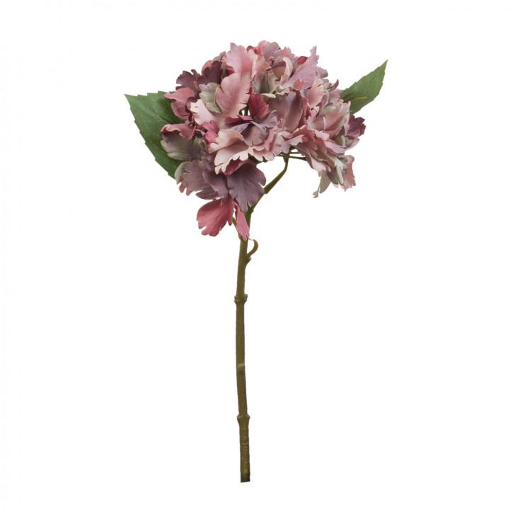Hortensie Kunstblume Blumendekoration Blume rot ca. 34 cm