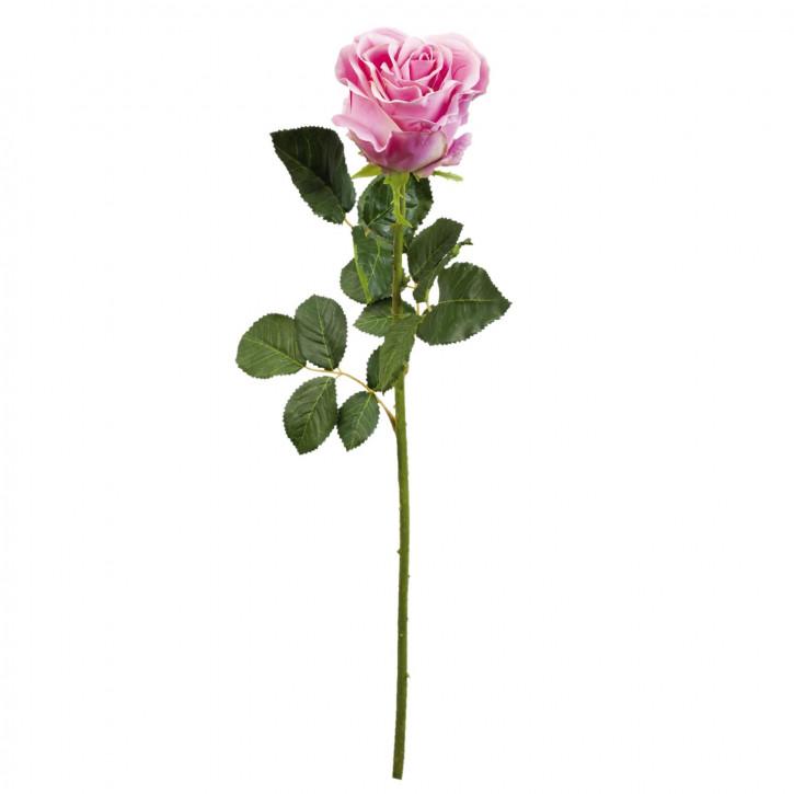 Rose Kunstblume Blumendekoration Blume hellrosa ca. 68 cm
