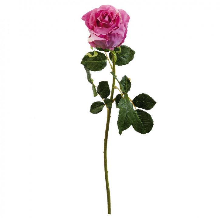 Rose Kunstblume Blumendekoration Blume rosa ca. 68 cm