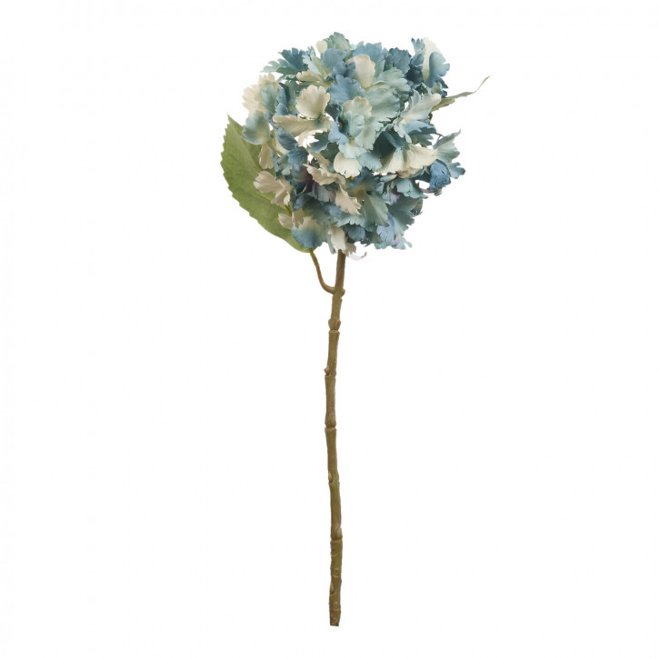 Hortensie Kunstblume Blumendekoration Blume blau ca. 57 cm