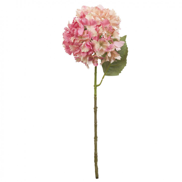 Hortensie Kunstblume Blumendekoration Blume rosa ca. 57 cm