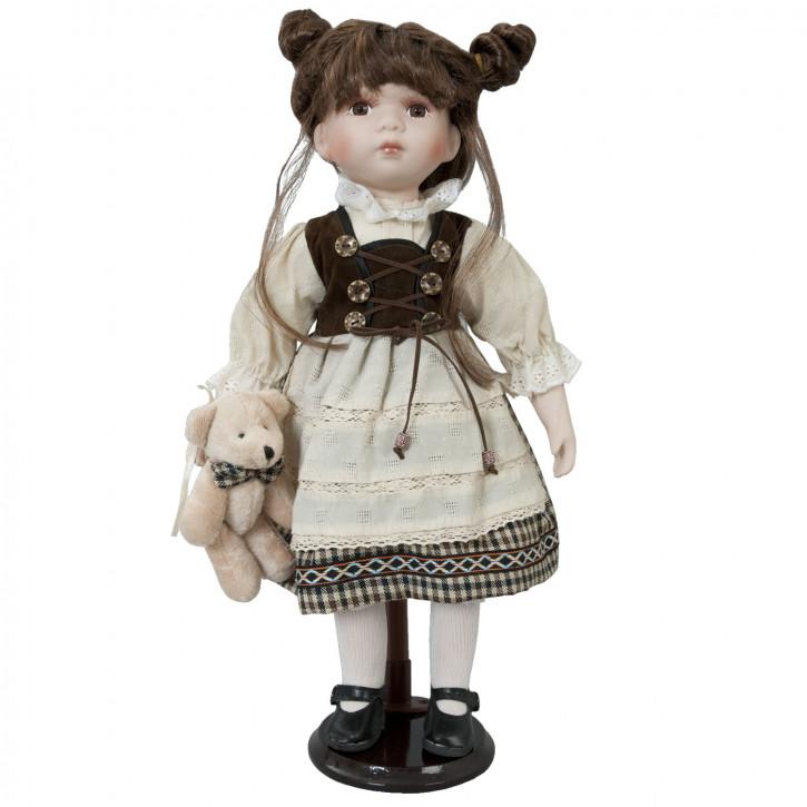 Deko Puppe Mädchen mit Bärchen