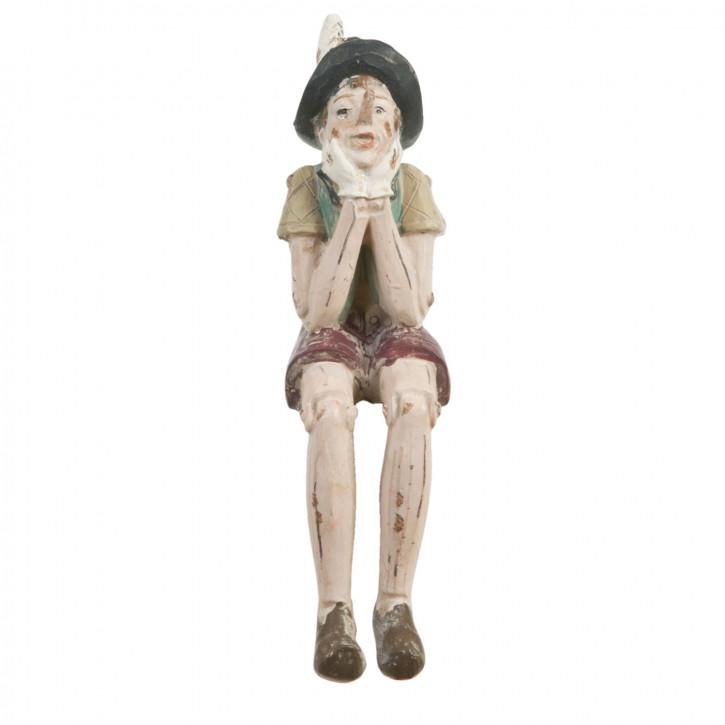 Figur einer sitzenden Puppe 4*7*15cm