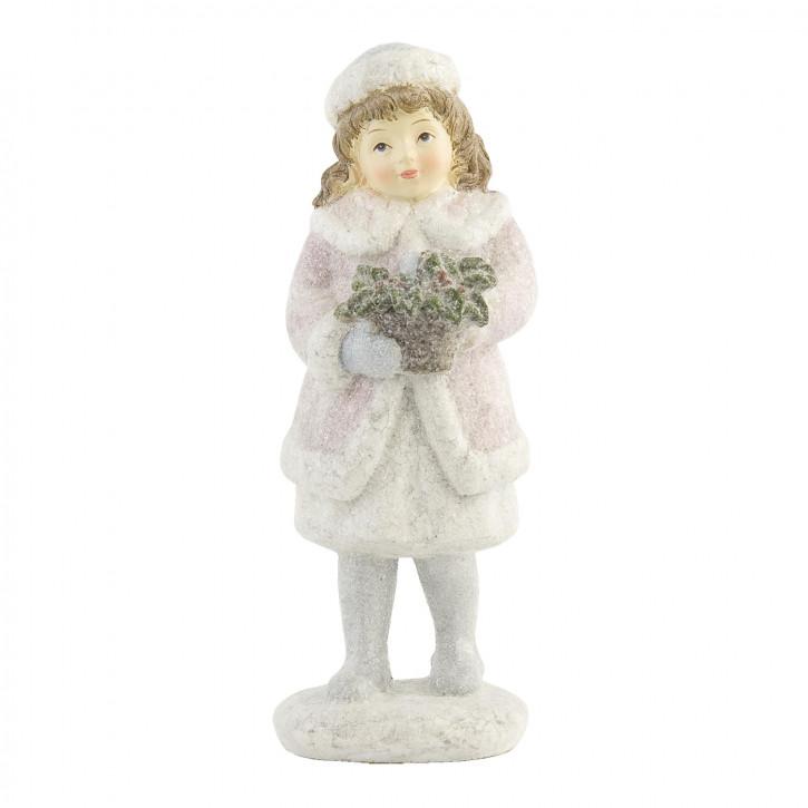 Deko Kind-Figur rosa/weiss, Mädchen