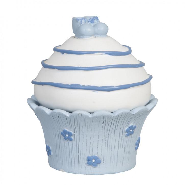 Decoration muffin    Schön blau 7*7*9 cm