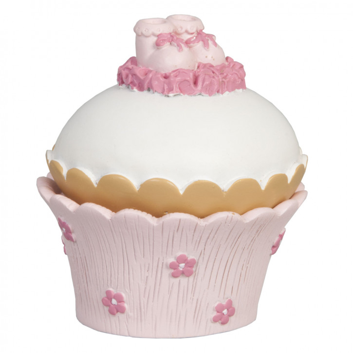 Decoration  schöne Rose  muffin 7*7*9 cm