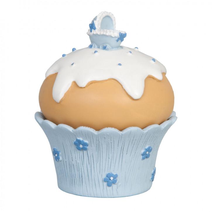 Dekoration muffin  Mit Zuckerguss blau  7*7*9 cm