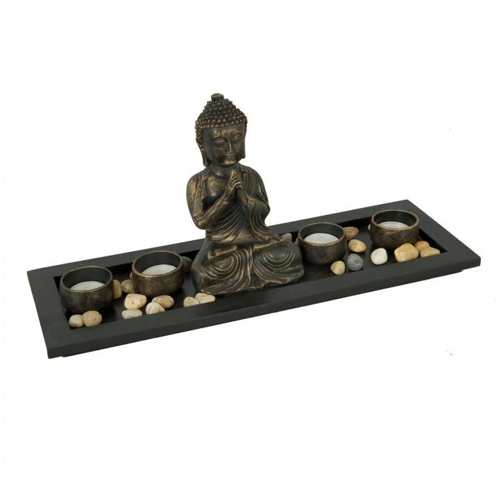 Teelichthalter Buddha 40*11*15cm