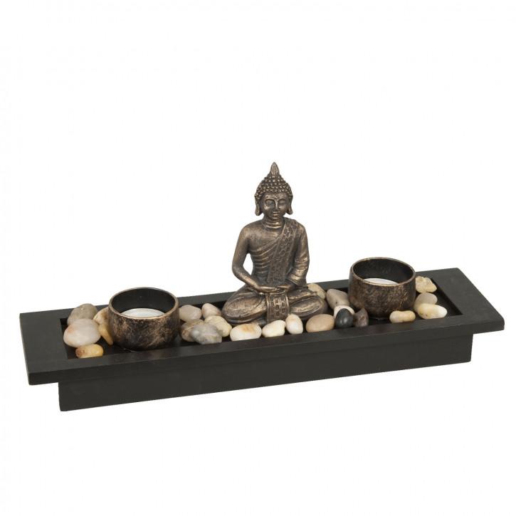 Teelicht Buddha 32*8*14cm