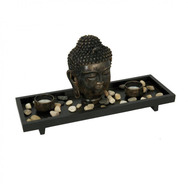 Herrlicher Teelichthalter Buddha 35*13*19cm