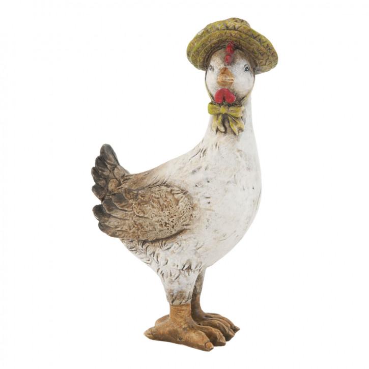 Deko Dekoration Figur Ente mit Hut ca. 13 cm