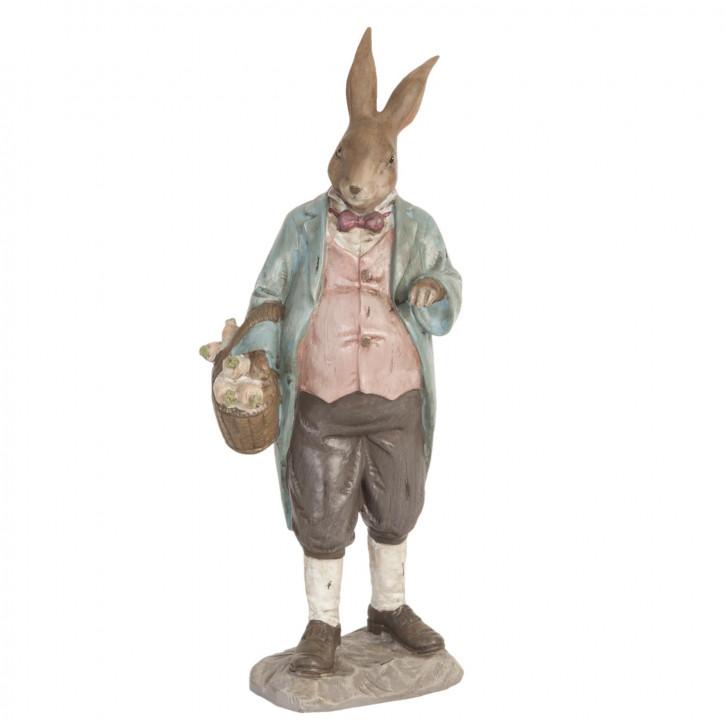 Figur Kaninchen Osterhase Hase Korb Körbchen ca. 11 x 8 x 27 cm
