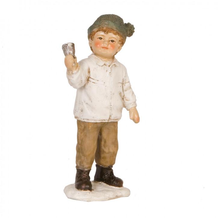 Dekofigur Junge with bell 12 cm