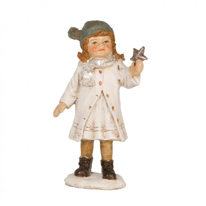 Dekofigur Mädchen with star 12 cm