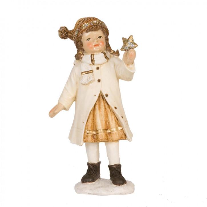 Dekofigur Mädchen with star 16 cm