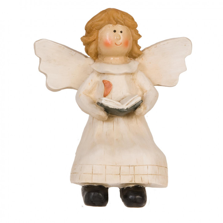 Angel with book edge sitting 13 cm