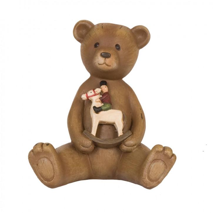 Bear with toys 10x9x11 cm