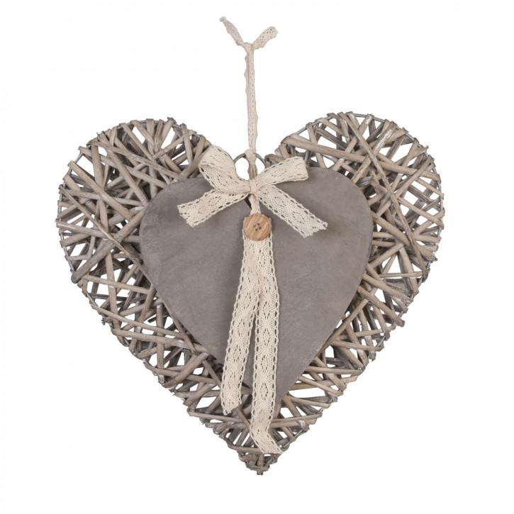 Herz hängend 35x34 cm