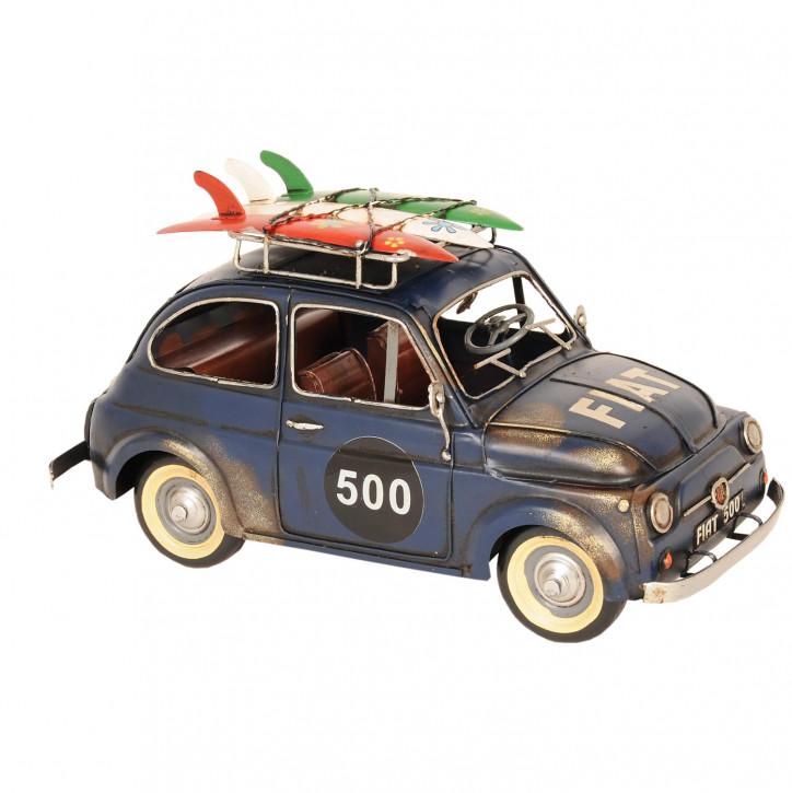 Modell Fiat 500 Blau aus Metall