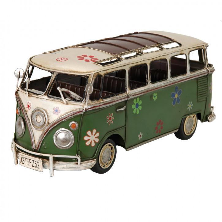 Modell Volkswagen Bus T1 Bully grün aus Metall
