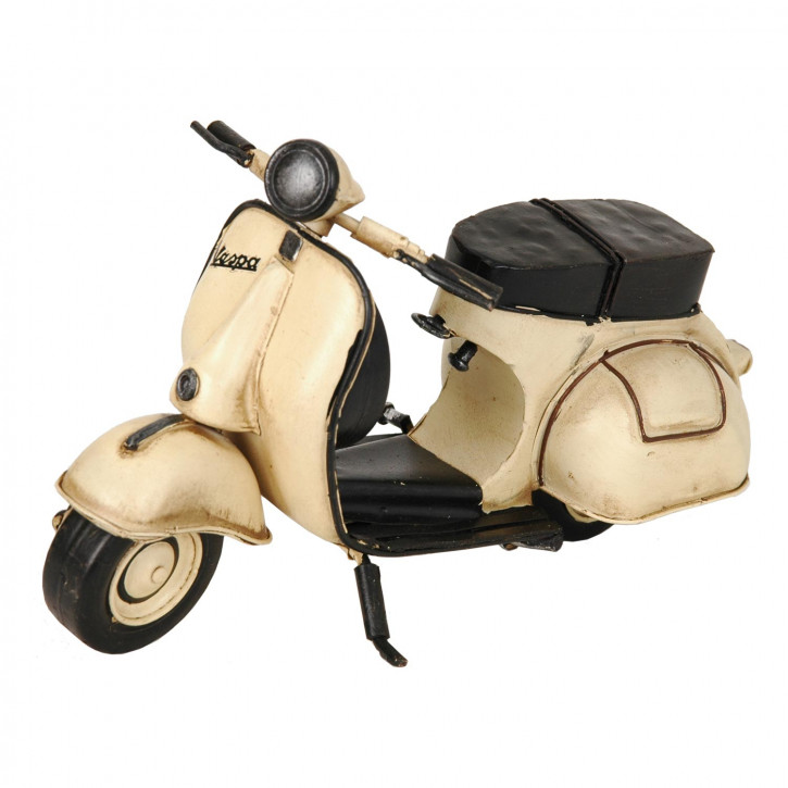 Modell Vespa Motorroller Scooter creme aus Metall