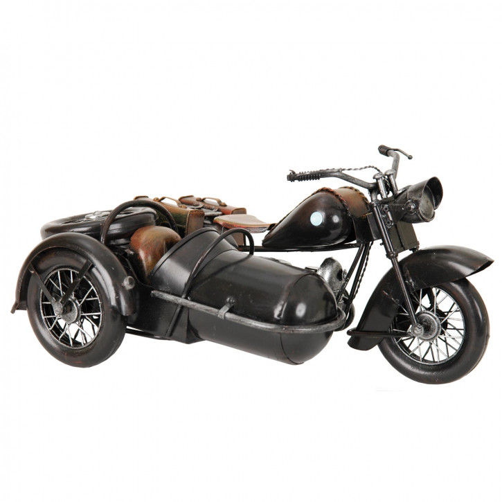 Motorrad Modell schwarz aus Metall