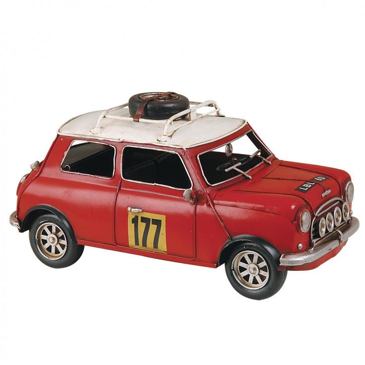 Fahrzeugmodell Mini Cooper 1963 rot aus Metall