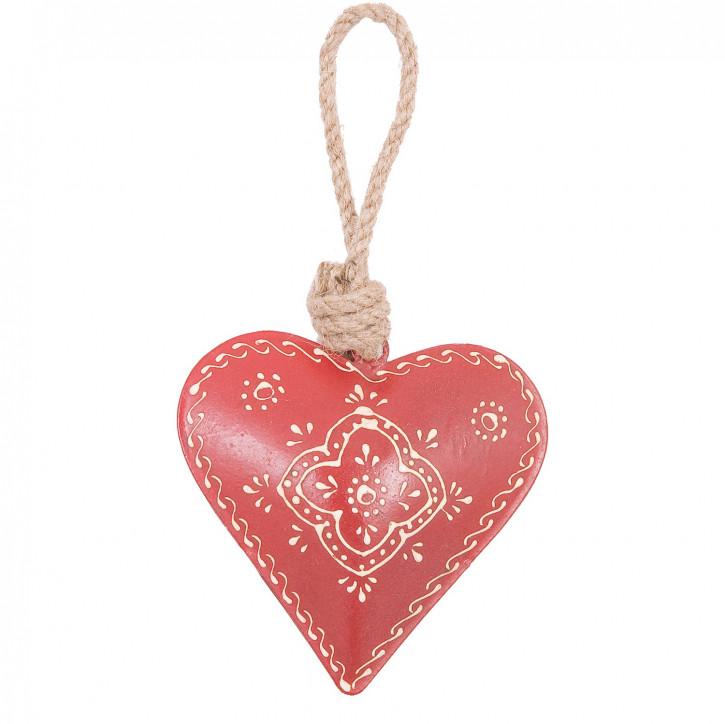 Herz zum Aufhängen rot 10 cm Eisen