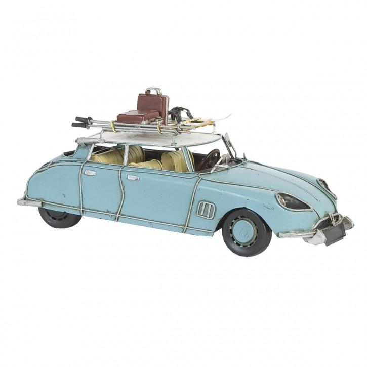 Modell Citroen DS 19 hell blau aus Metall