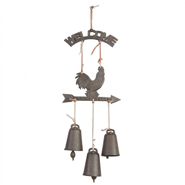 Türglocke 3 Glocken Hahn ca. 48 x 19 x 4,5 cm