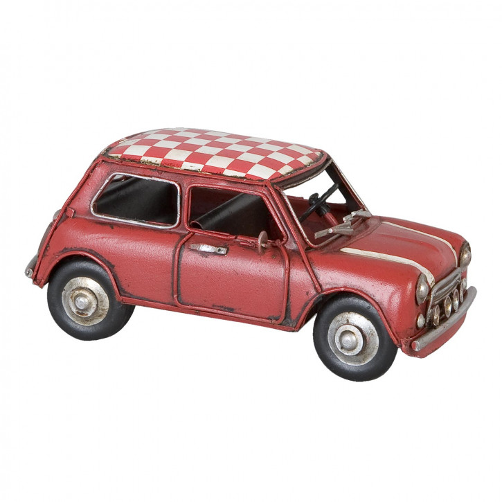 Modell Mini Cooper rot Caro aus Metall