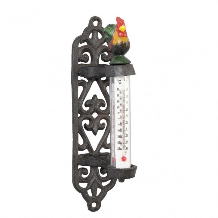 Thermometer Hahn bunt ca. 20 x 8 x 5 cm