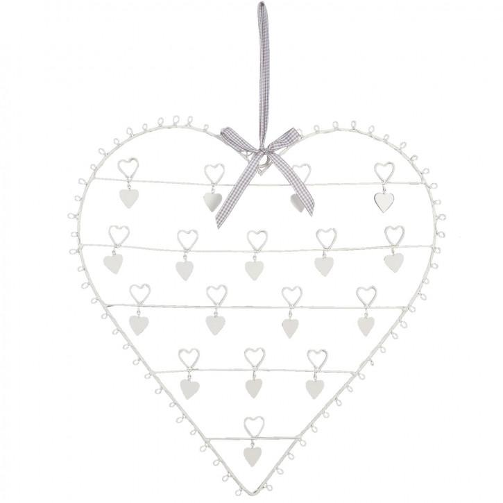 Kartenhalter Herz groß ca. 50 cm