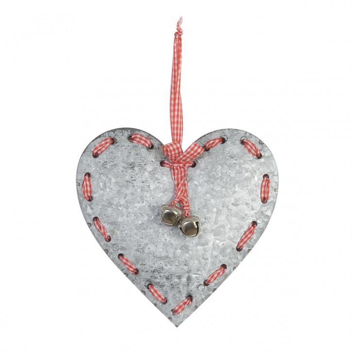 Schönes Deko Herz mit Glöckchen 16cm