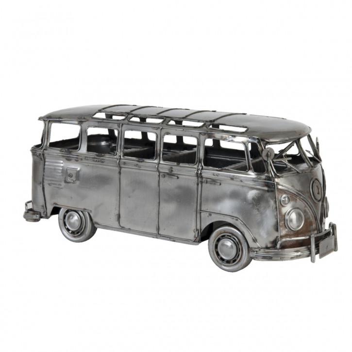 Modell Volkswagen Bus T1 Bully Silber-Grau aus Metall