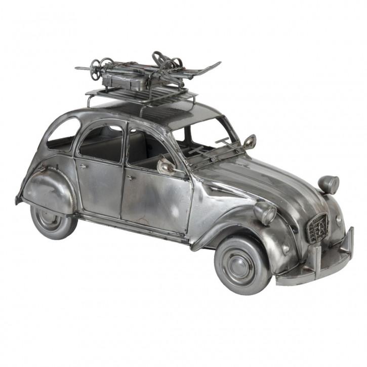 Modell Citroen 2CV Ente Silber-Grau aus Metall