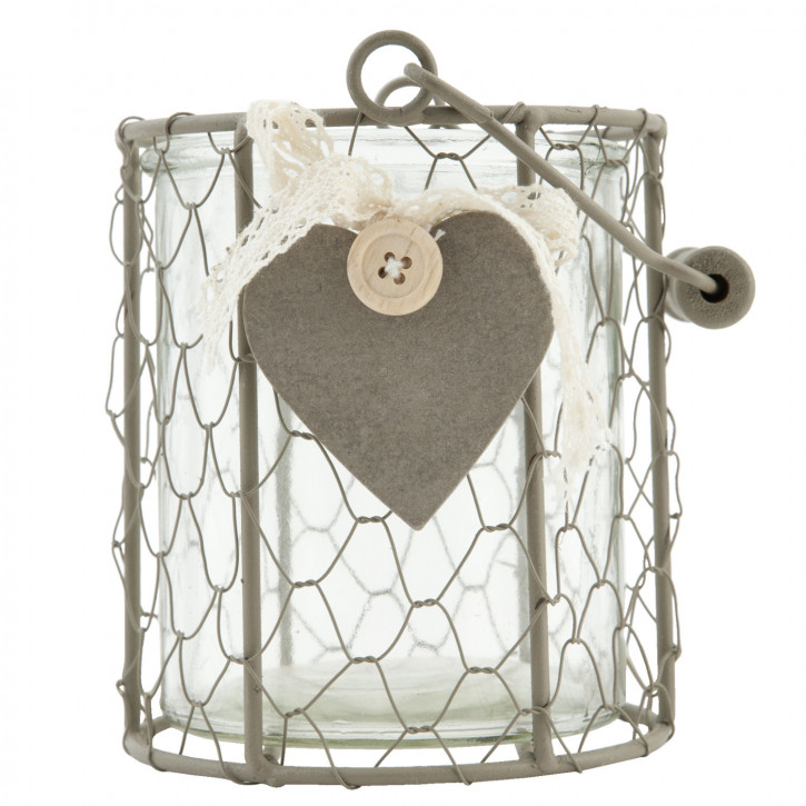 Schöner Teelichthalter mit Herzmotiv